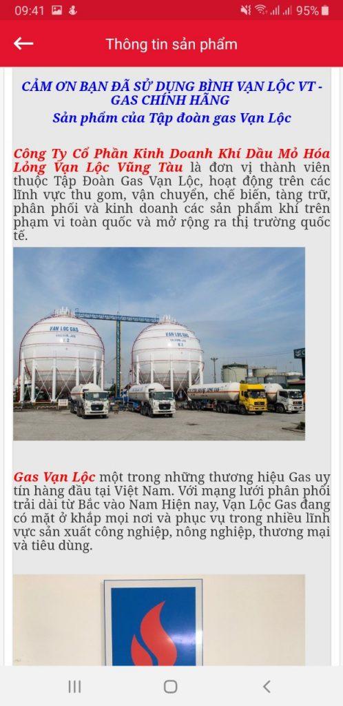 gas chính hãng dán tem chống giả - gas Vạn Lộc